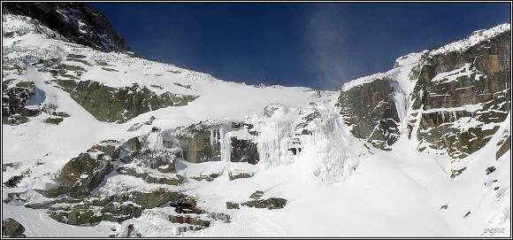 Vysoké Tatry. Vodopád Skok