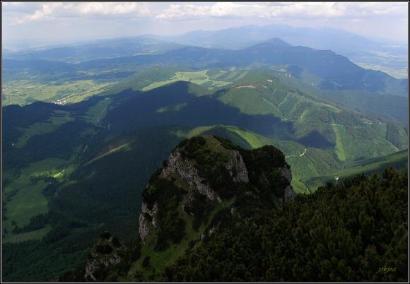 Chočské vrchy z Veľkého Choče