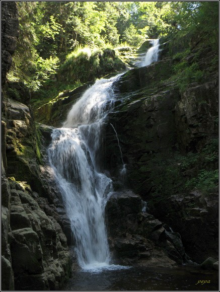 Krkonoše. Wodospad Kamieńczyka