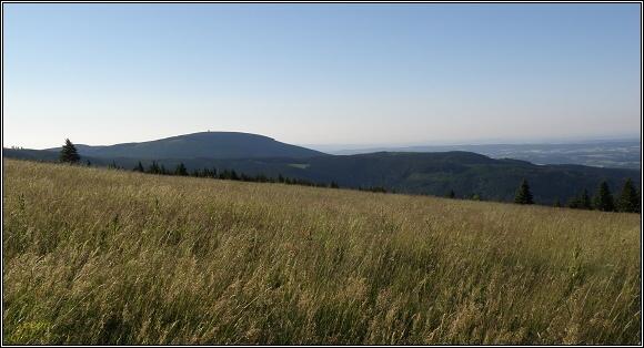 Krkonoše. Černá hora od Lahrových bud