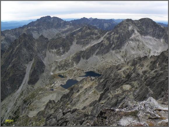 Pohled z Lomnického štítu k severozápadu