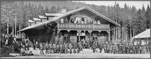 Lovecký zámeček na Kladské na konci 19. století