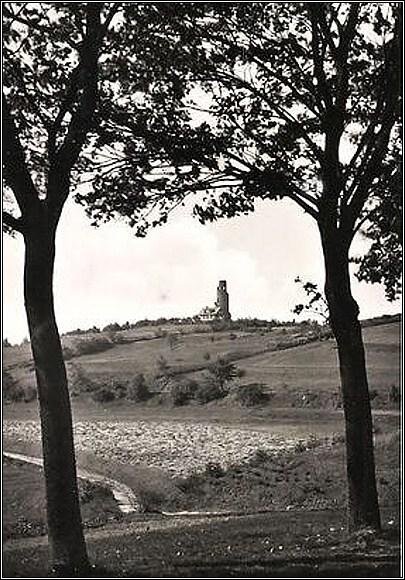 Rozhledna na Krásenském vrchu, pohled z roku 1940