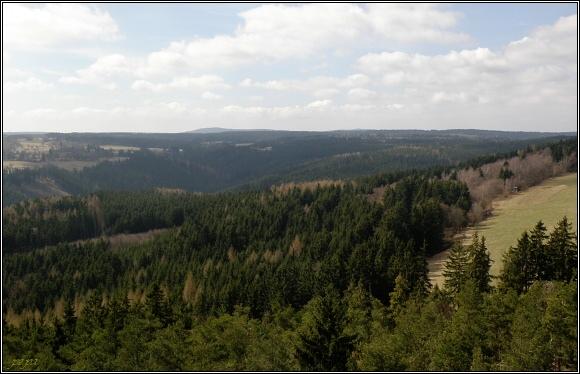 Centrální část Slavkovského lesa s nejvyššími vrcholy (Lysina a Lesný/)