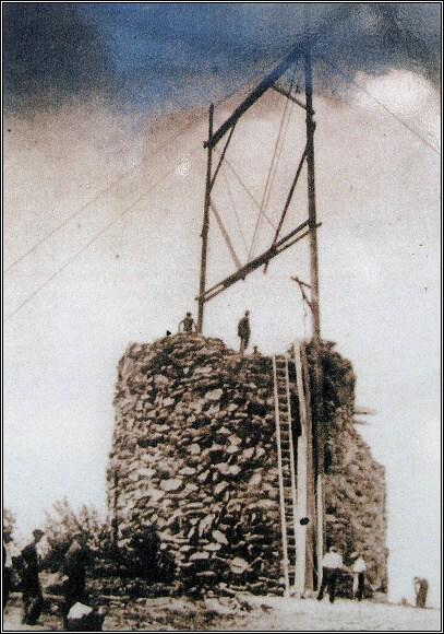 Stavba rozhledny na Krásenském vrchu