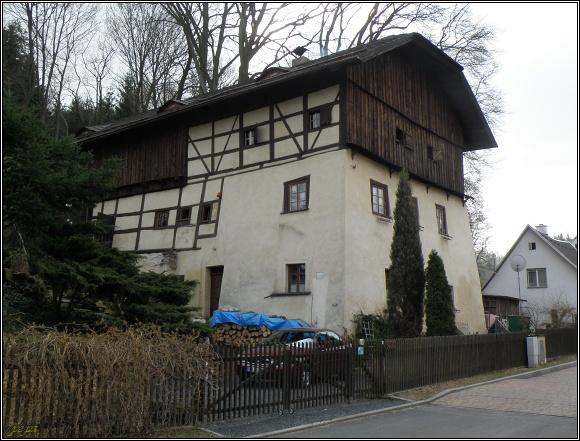 Seidelhaus - bývalý rudný mlýn na Dlouhé stoce v Horním Slavkově