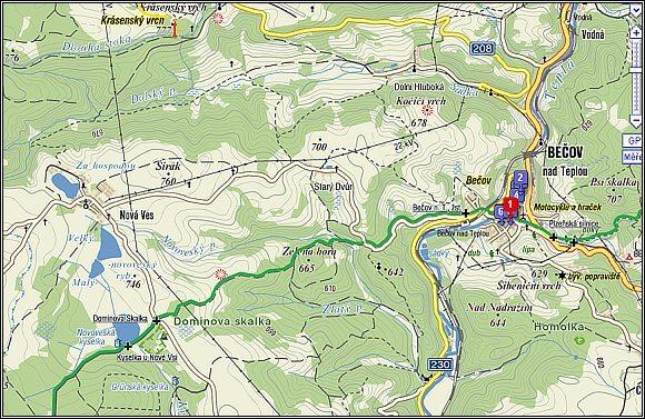 Bečov nad Teplou - mapa