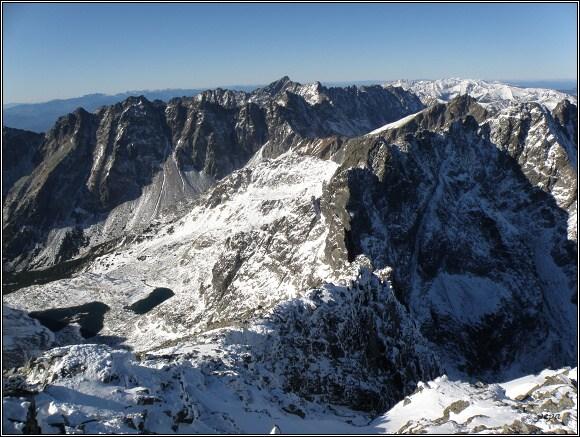 Vysoké Tatry. Rysy, pohled k západu