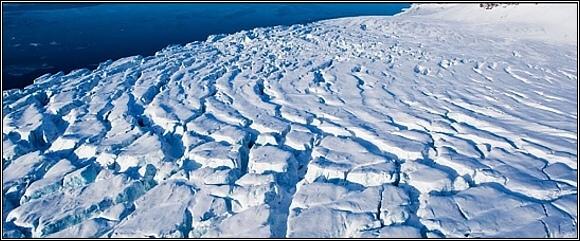 Země Františka Josefa. Pobřežní ledovec