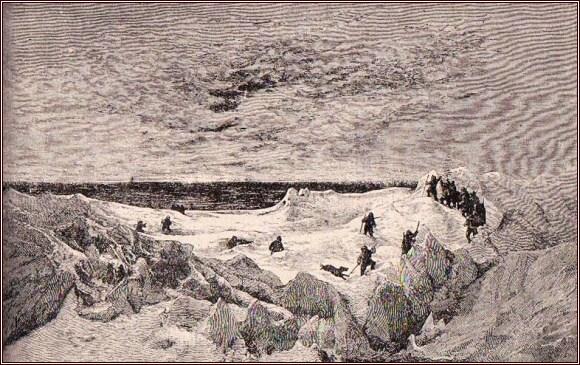 První východ slunce roku 1873 /Julius Payer/
