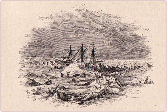 Drift lodi v březnu 1873 /Julius Payer/