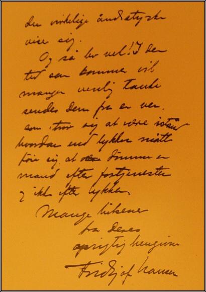 Závěr Nansenova dopisu Andréeovi