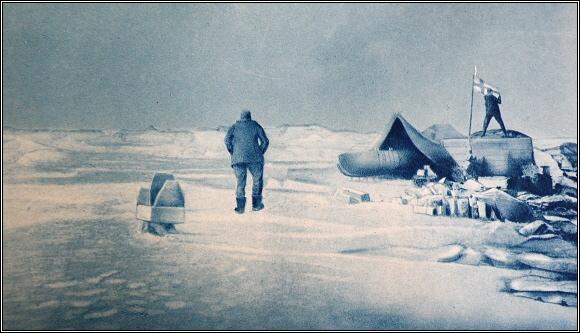 Místo přistání Őrnenu - první tábořiště Andréeovy výpravy