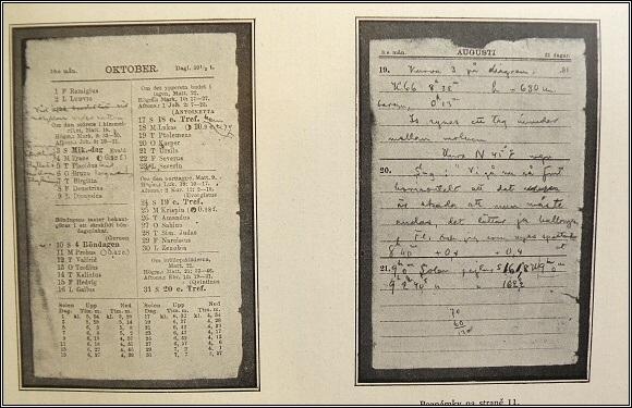 Strindbergův poznámkový kalendář