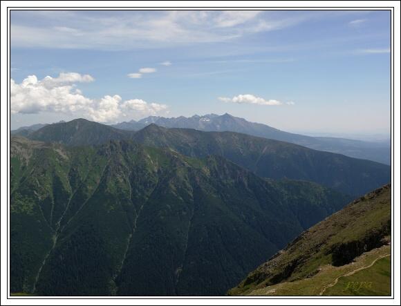 Baranec, Západní Tatry. Pohled k východu
