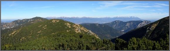Panorama Vysokých Tater z Ďumbieru