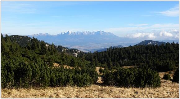Nízké Tatry. Vysoké Tatry z Kosienok