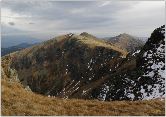 Nízké Tatry. Ďumbier a Chopok z Dereší