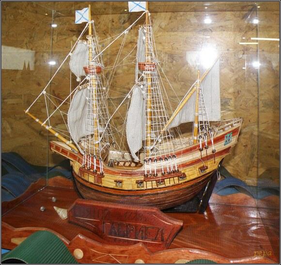 Miniuni Ostrava. Svatý Gabriel. Loď, na které Vitus Bering proplul roku 1728 jako první na světě úžinou mezi Asií a Amerikou