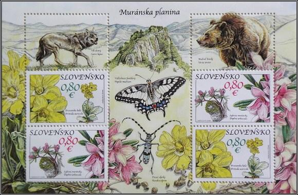 NP Muránska planina na poštovních známkách