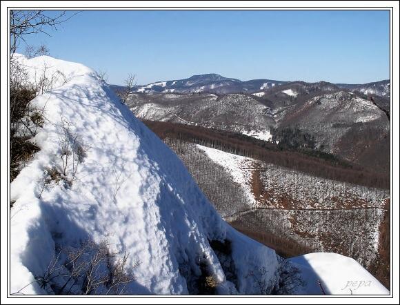 Muránska planina. Klenovský Vepor z Hradové