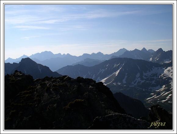 Vysoké Tatry, Orla perć, panoráma Vysokých Tater