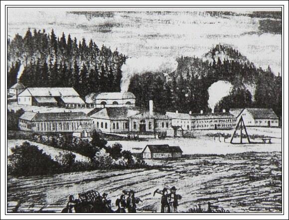 Ferdinandova huta v roce 1861