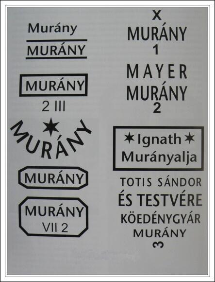 Výrobní značky muránské kameniny