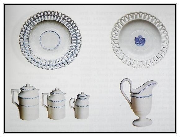 Keramika z prvních roků fungování manufaktury. Zobrazen je erb rodu Koháry