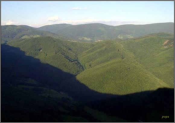 Stolické vrchy z Muránskeho hradu
