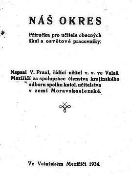 Kniha Náš okres Václava Praxla