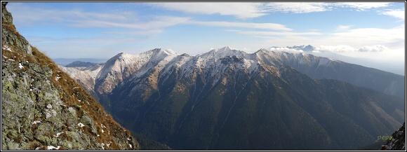 Západní a Vysoké Tatry z Baranca