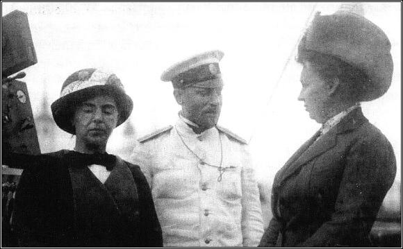 Georgij Jakovlevič Sedov s manželkou na palubě Sv. Foky