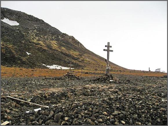 Pomník Georgije Sedova na Zemi Františka Josefa