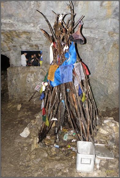 Malá Stanišovská jaskyňa. Obětní místo obó