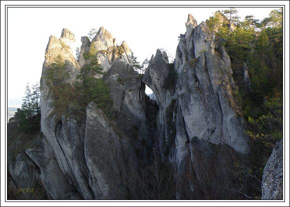 Súľovské skaly. Gotická brána