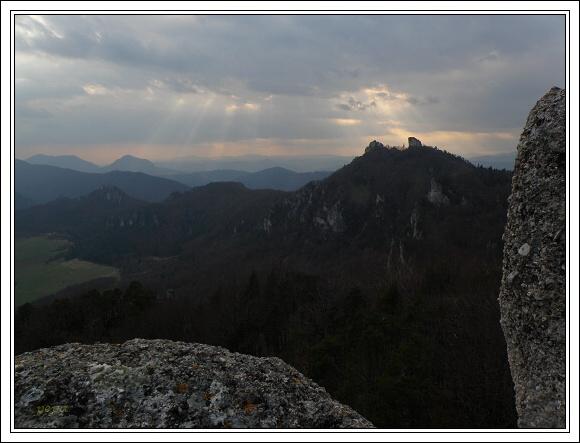 Súľovské skaly. Vrch Brada
