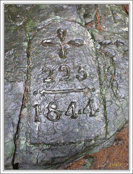 Historický hraniční kámen Kőnigstein – Napoleonstein