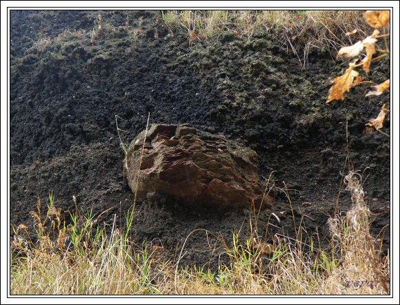 Železná hůrka, fragmenty hornin z podloží