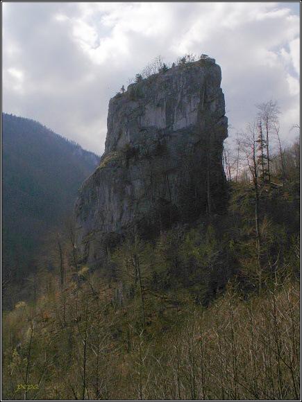Muránska planina. Skalní věž Túreň