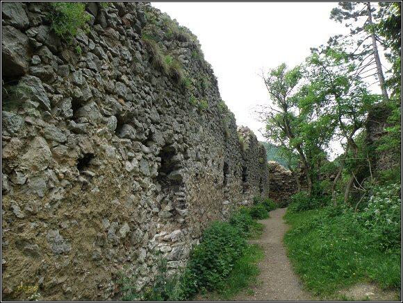 Vršatské hradné bralo. Zbytky hradu Vršatec