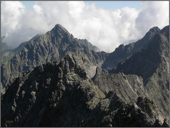 Vysoké Tatry z Ľadového štítu