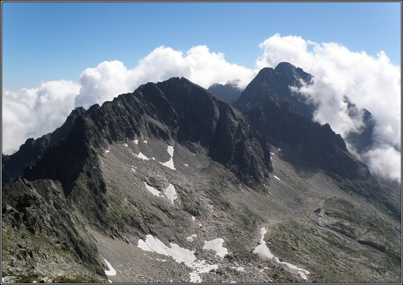 Vysoké Tatry. Baranie rohy z Ľadového štítu