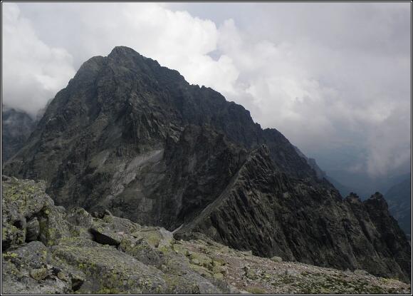 Vysoké Tatry. Baranie rohy, pohled k Pyšnému štítu
