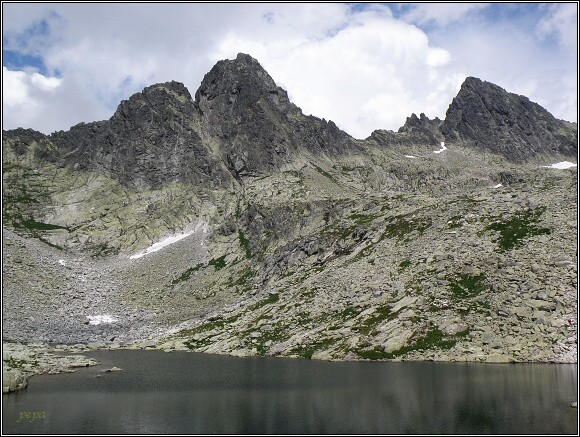 Vysoké Tatry. Veľká Studená dolina (Ostrý štít a Široká veža)