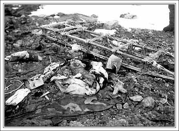 Zbytky Andréeho tábora na ostrově Vitő