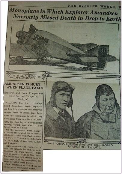 Zpráva o havárii Junkersu v tisku
