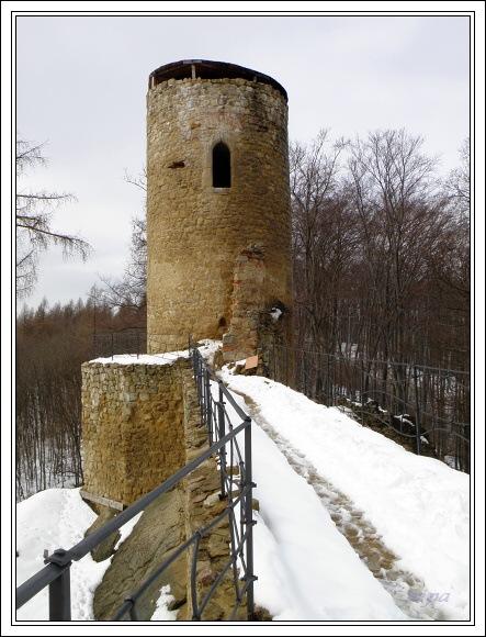 Chřiby. Zřícenina hradu Cimburk
