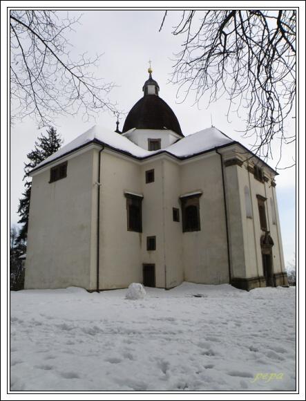 Chřiby. Barborka, kaple Svaté Barbory