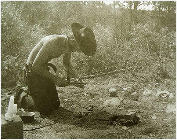 Příprava medvědího guláše